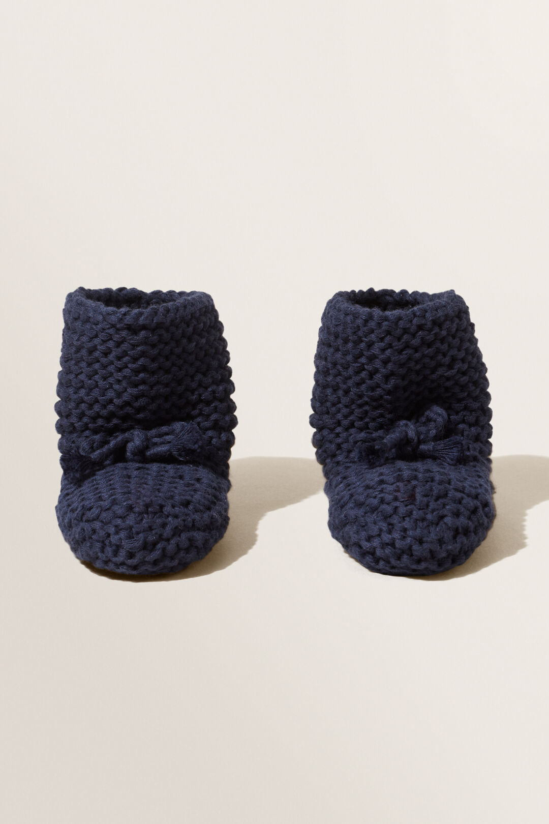 Pearl Knitted Bootie  Navy  hi-res