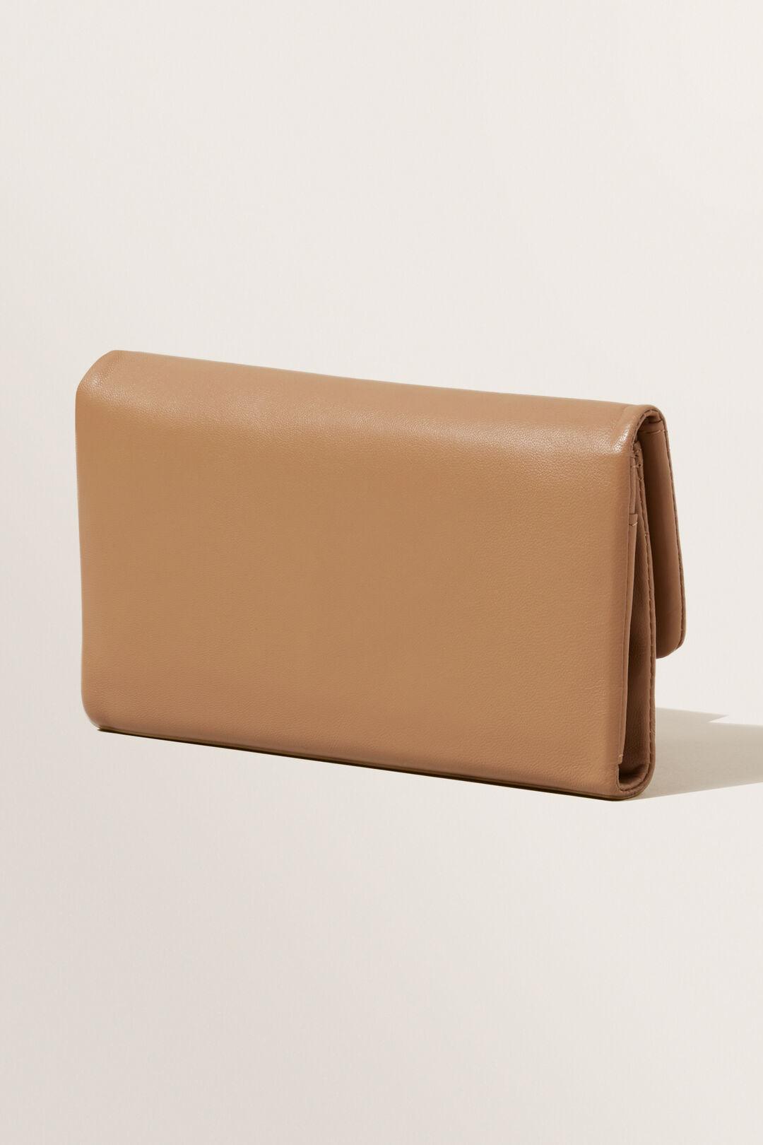 Leather Fold Over Wallet  Honey Dew  hi-res