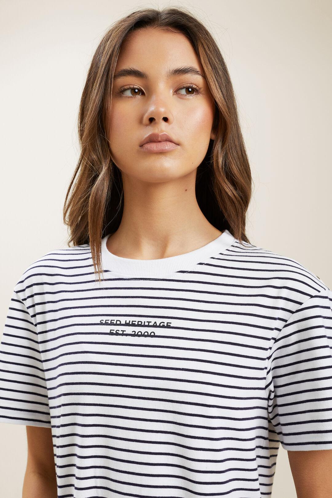 Essential Tee Dress  Midnight Stripe  hi-res