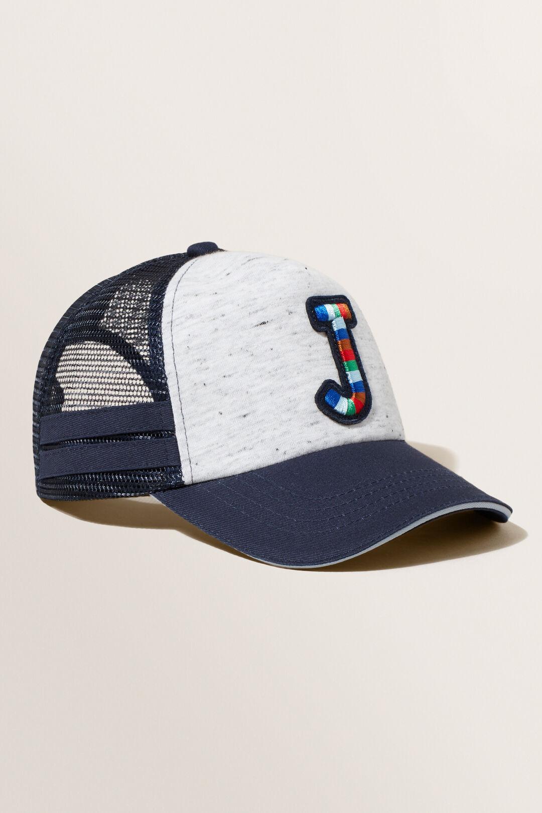 Embroidered Initial Cap  J  hi-res
