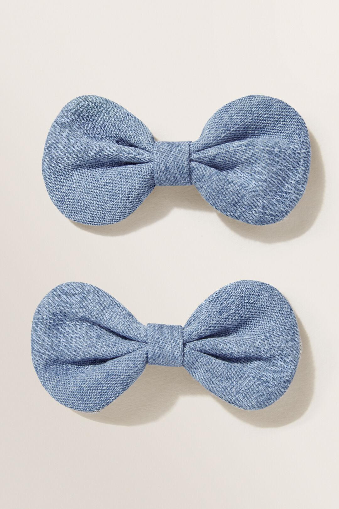 Denim Bow  Blue  hi-res