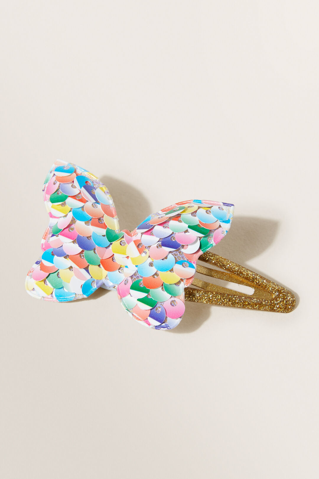 Butterfly Sequin Clip  Multi  hi-res