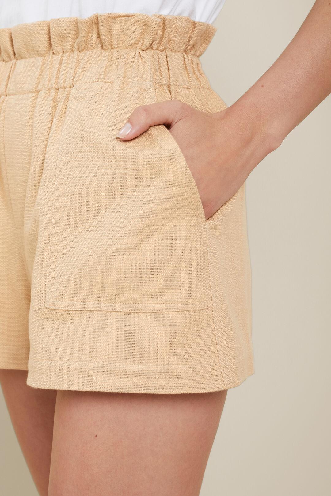 Textured Paperbag Short  Neutral Sand  hi-res