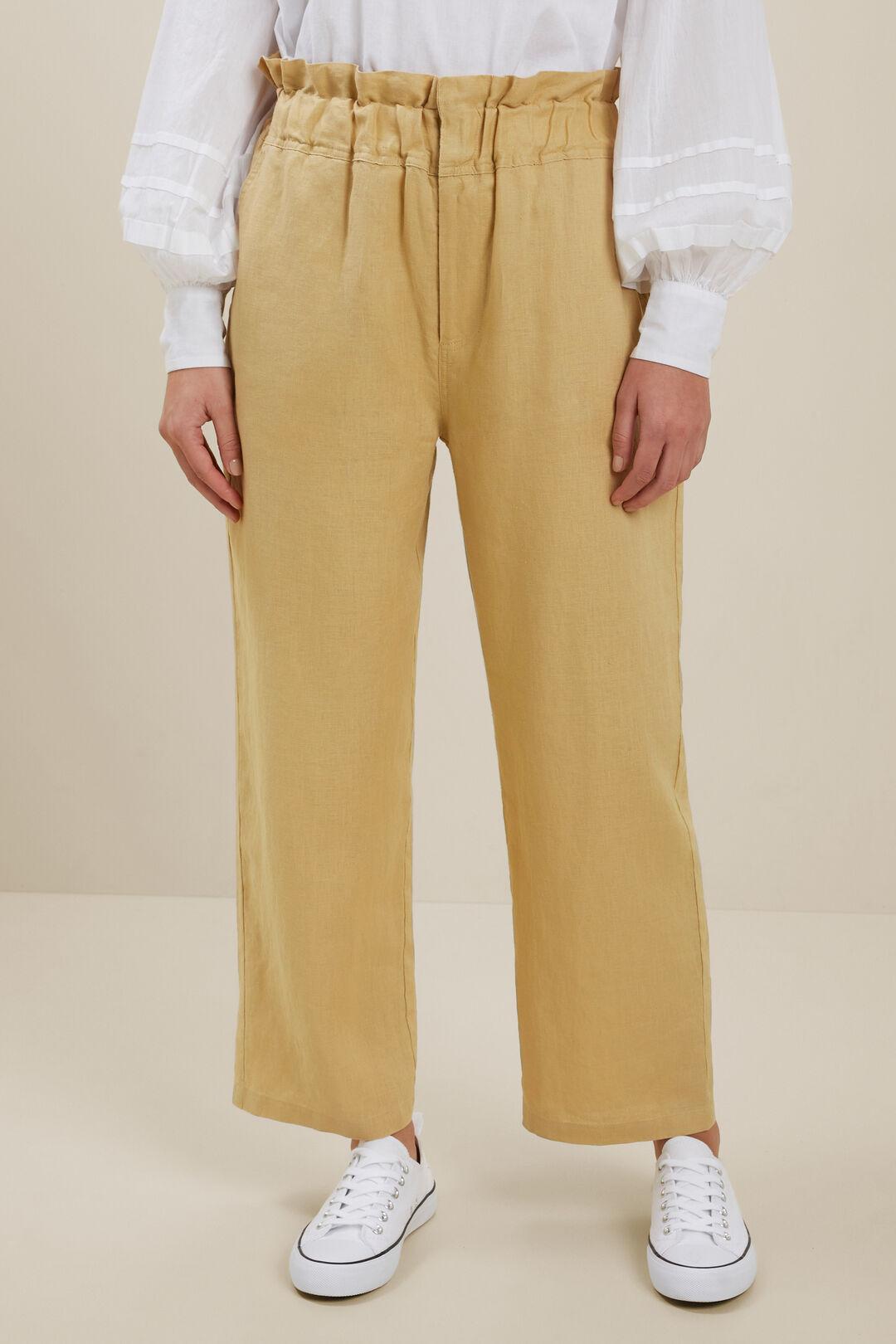 Linen Paperbag Waist Pant  Fawn  hi-res