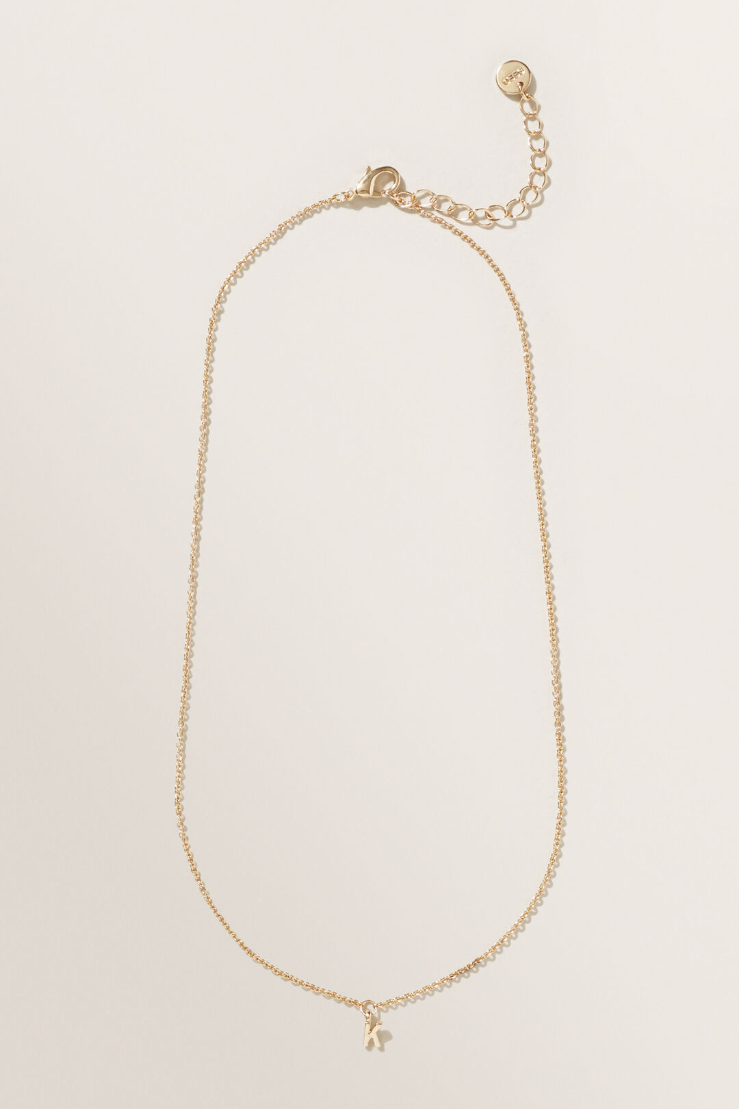 Initial Necklace  K  hi-res