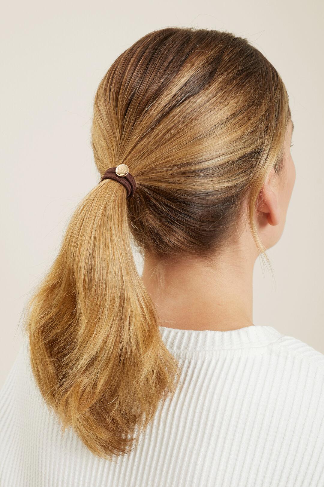Seed Hair Ties  Brown  hi-res