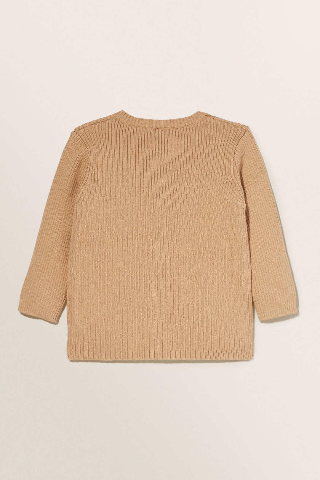 Essential Knitted Cardigan  Wheat  hi-res