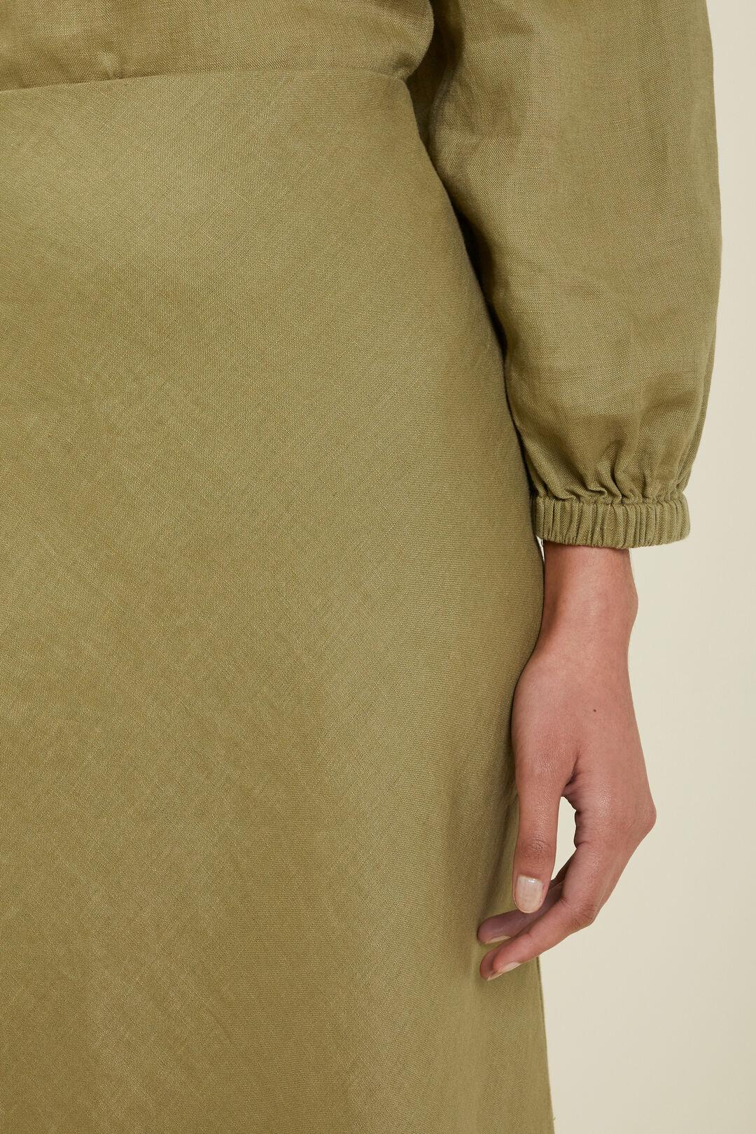 Core Linen Slip Skirt  Sage Green  hi-res