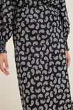 Printed Slip Skirt  Mono Paisley  hi-res
