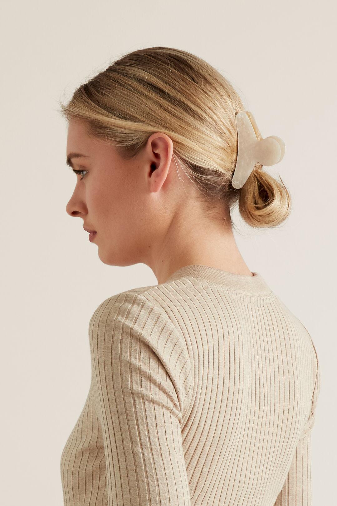 Tort Hair Clip  Pearl  hi-res