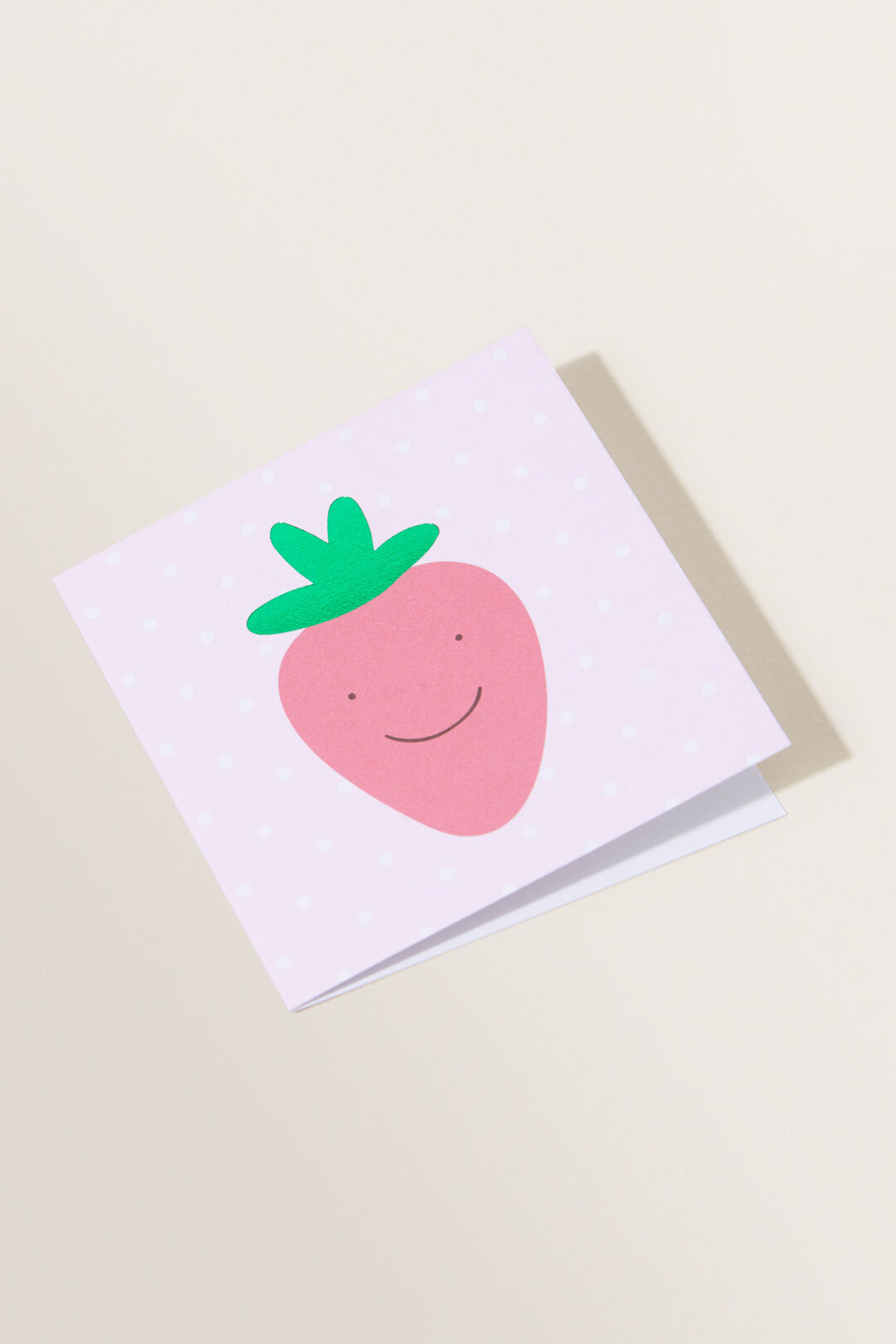 Small Strawberry Card  Multi  hi-res