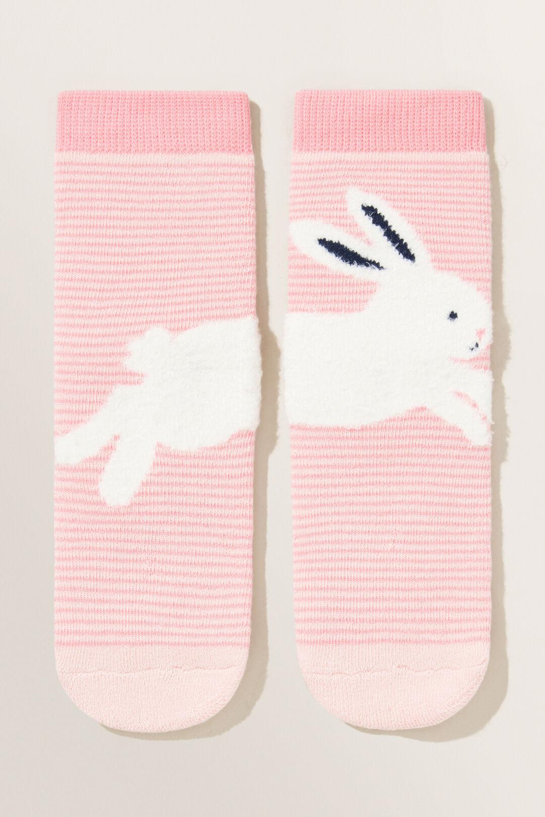 Fluffy Bunny Socks  Parisian Pink  hi-res