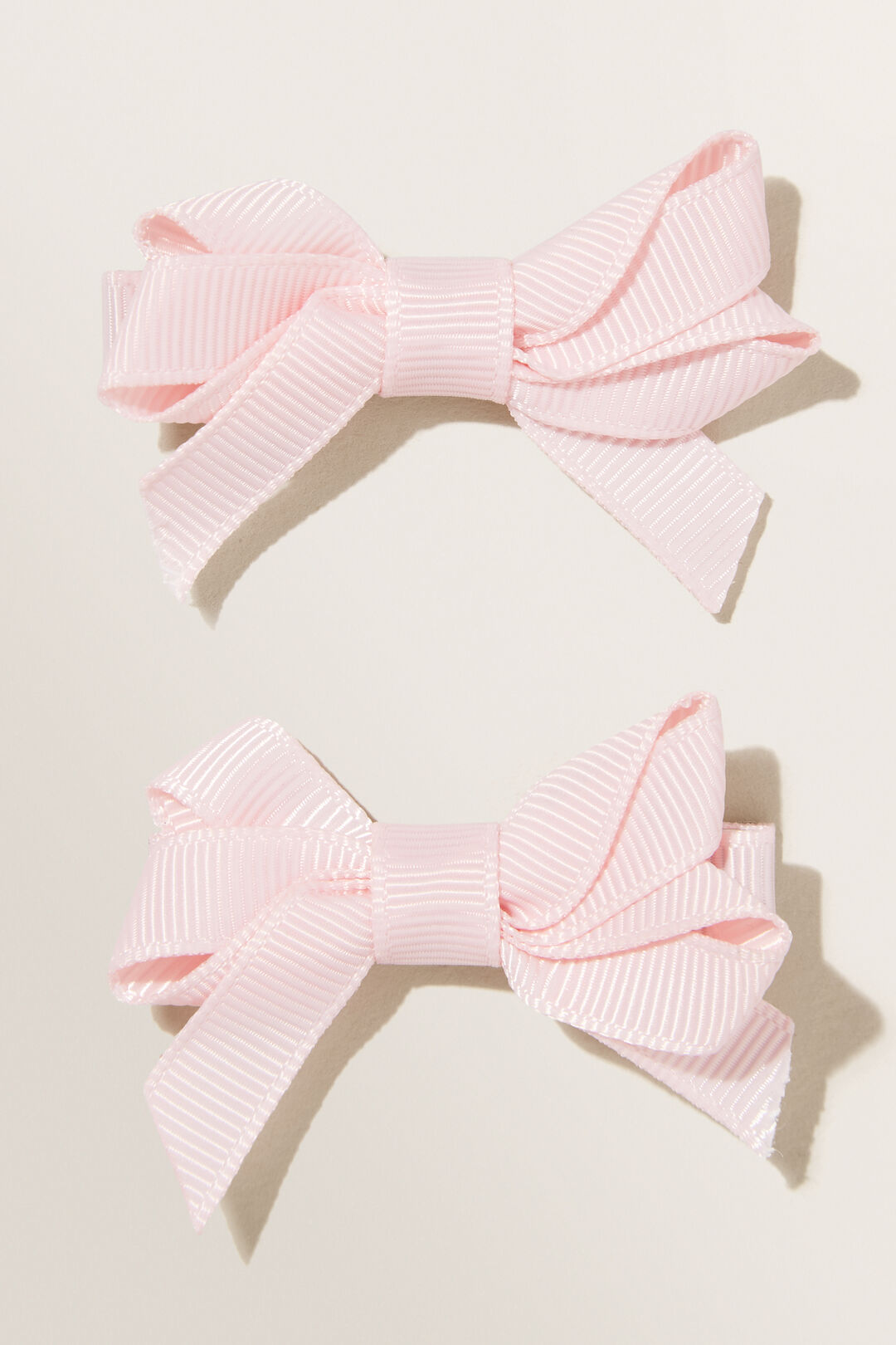 Double Bow Clips  Dusty Rose  hi-res