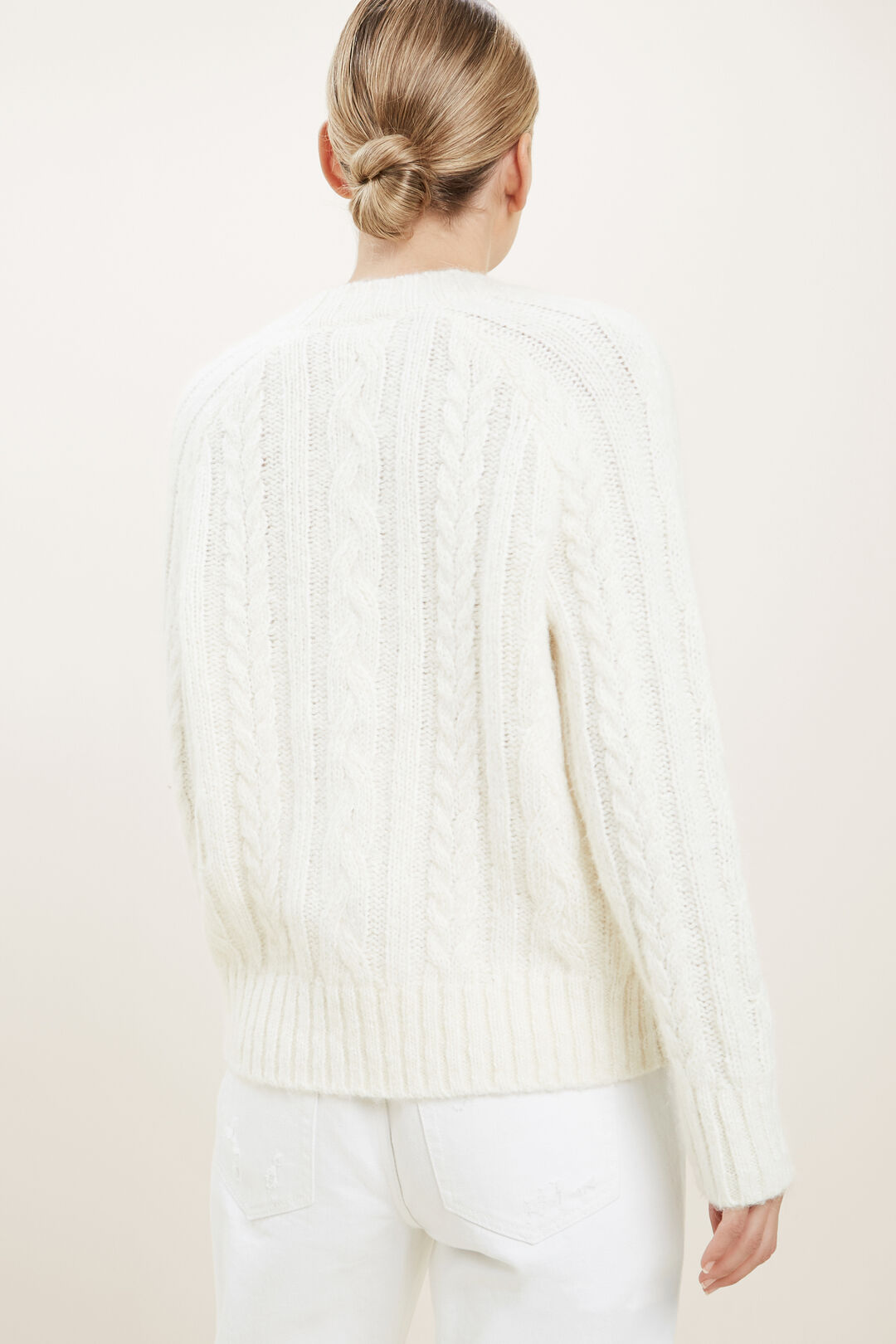 Cable Knit Cardigan  Cloud Cream  hi-res