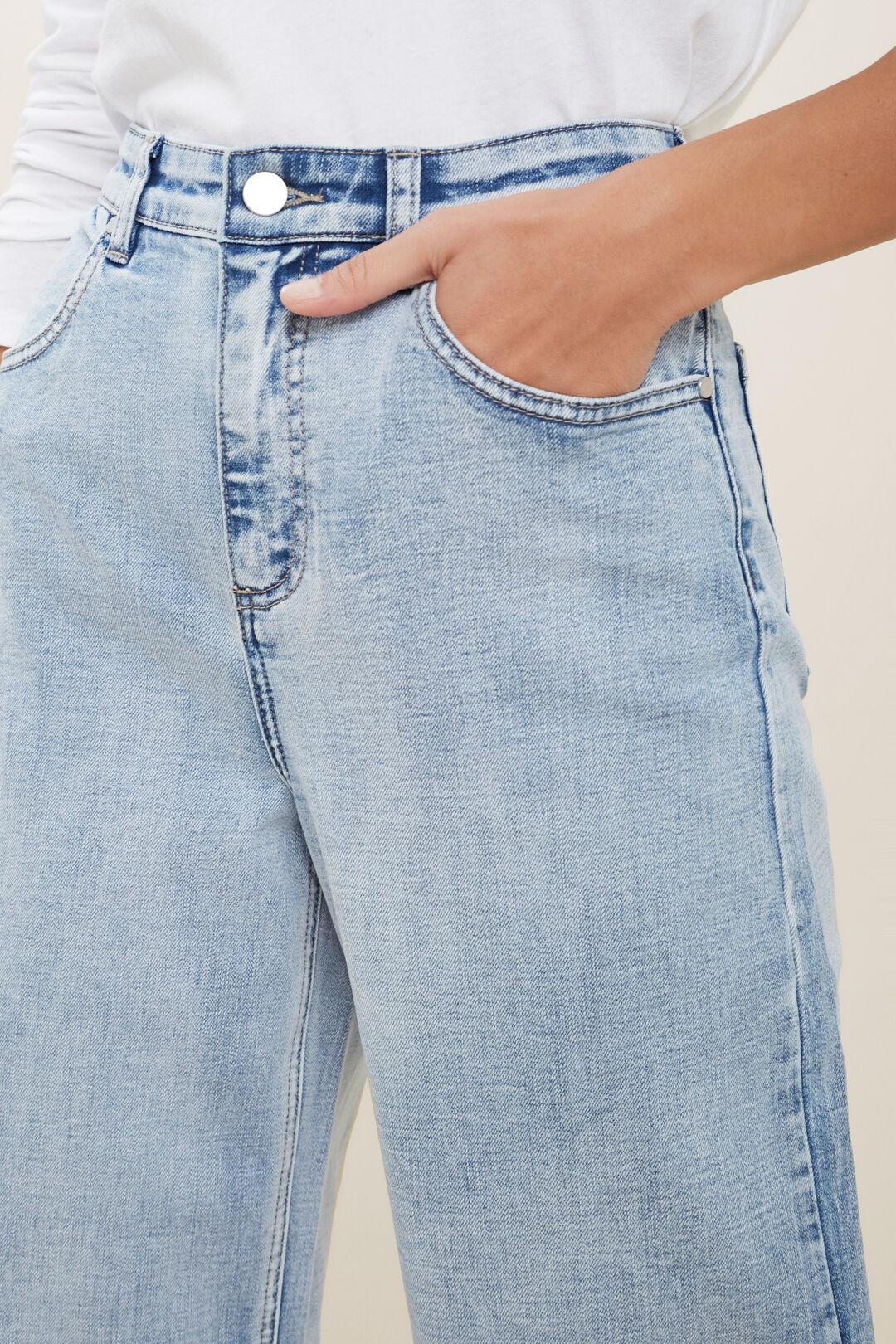 Core Wide Leg Stretch Jean  Light Sky Denim  hi-res