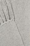 Rib Knit Scarf  Grey Marle  hi-res