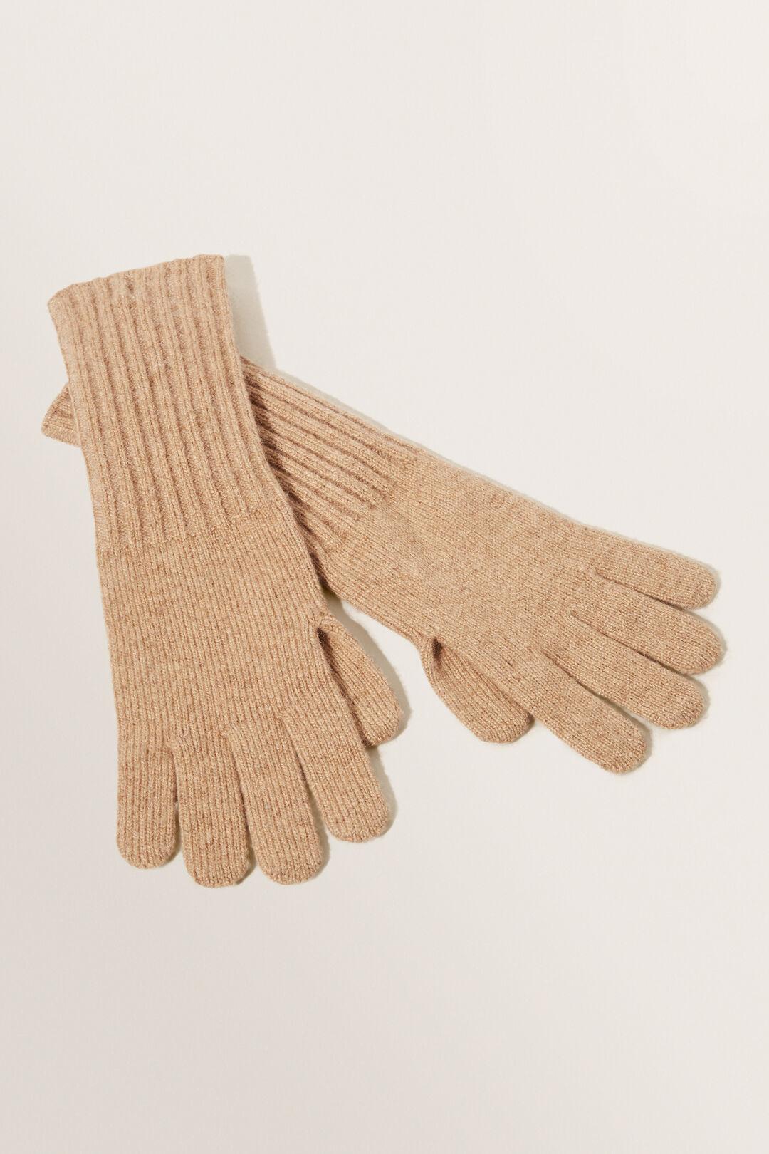 Rib Knit Gloves  Honey Dew  hi-res