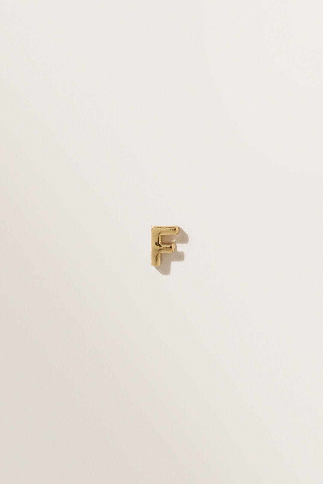 Gold Initial Charm  F  hi-res