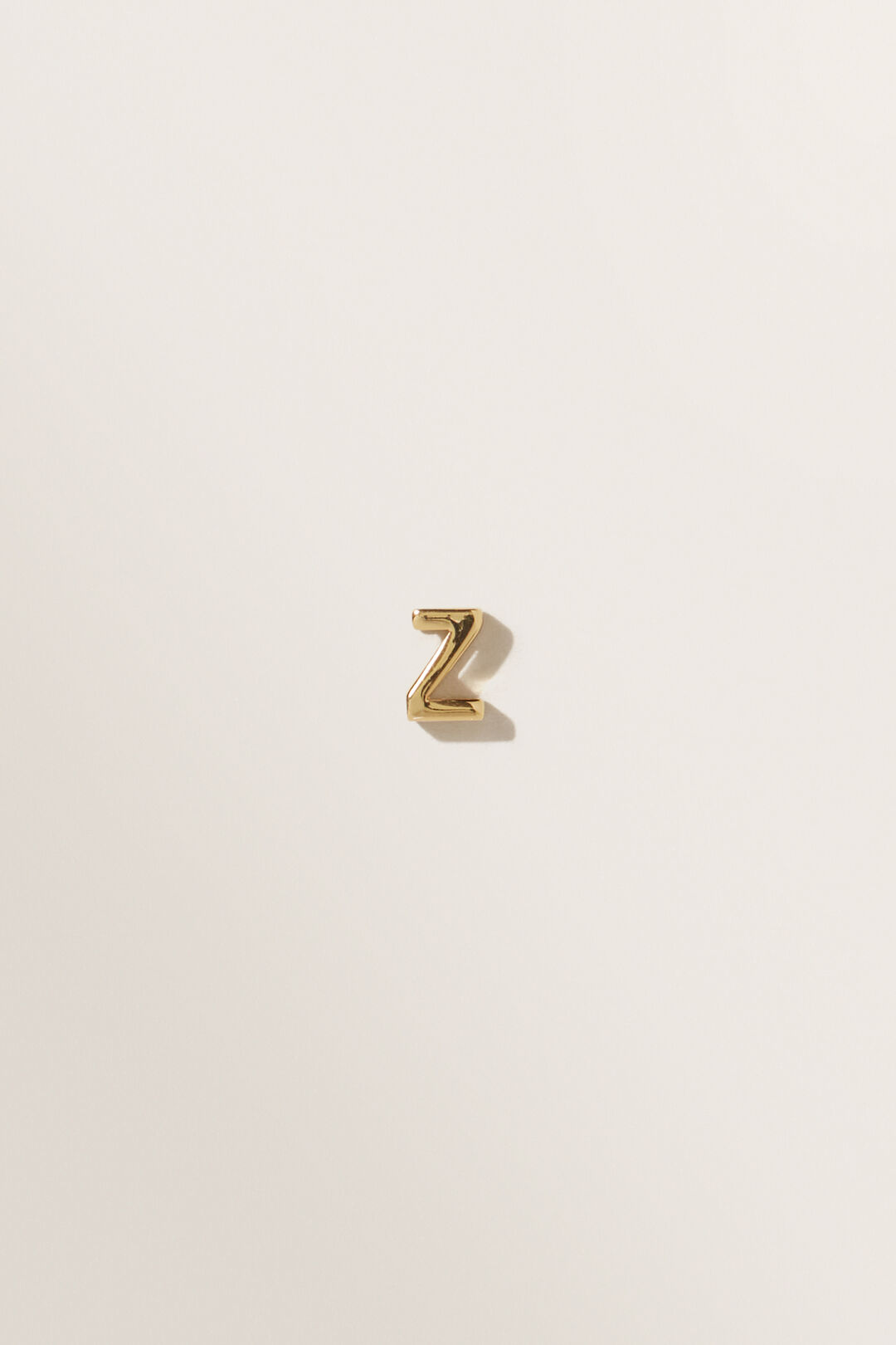 Gold Initial Charm  Z  hi-res