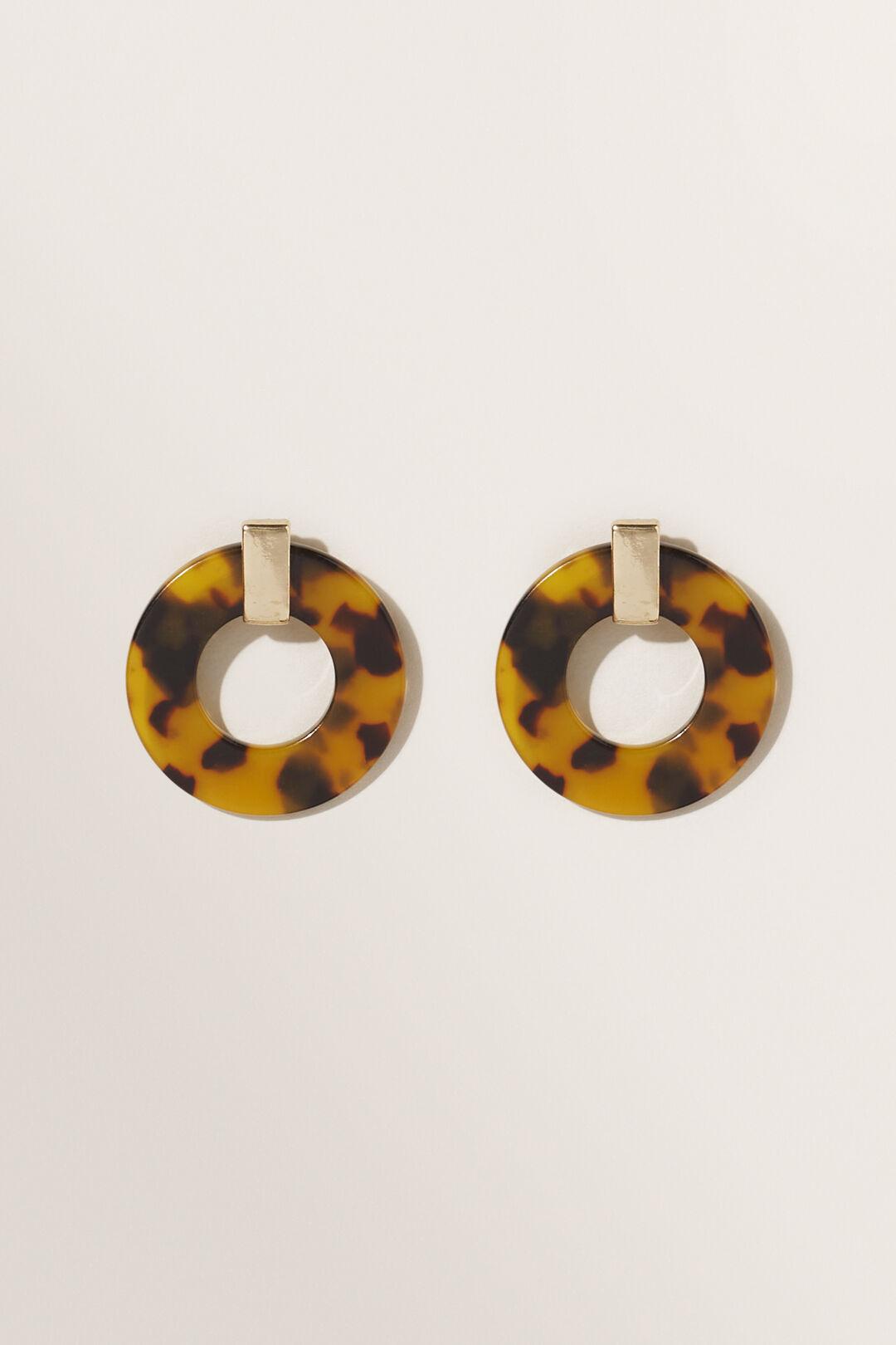 Round Tort Earrings  Tort  hi-res