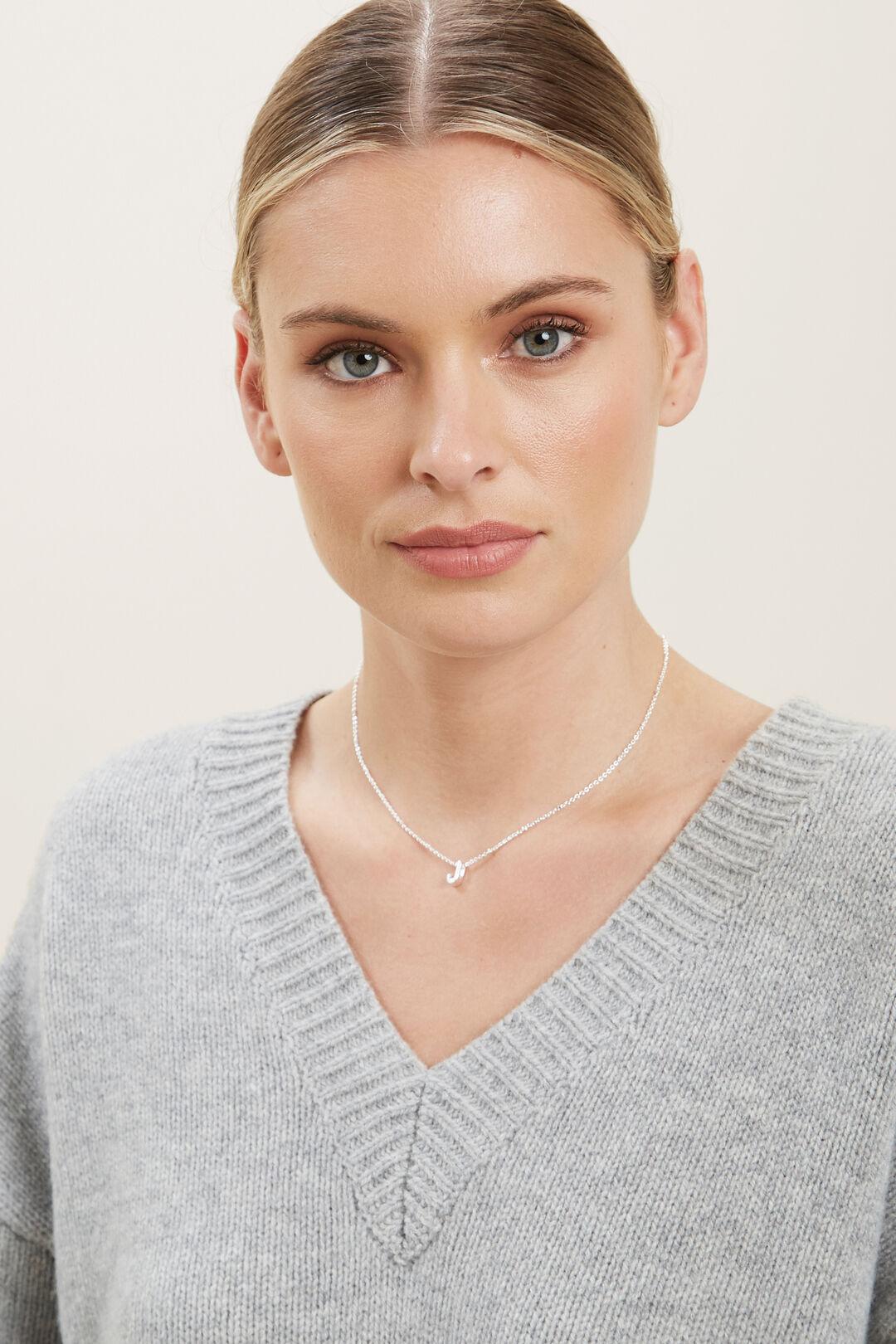 Silver Initial Charm  J  hi-res