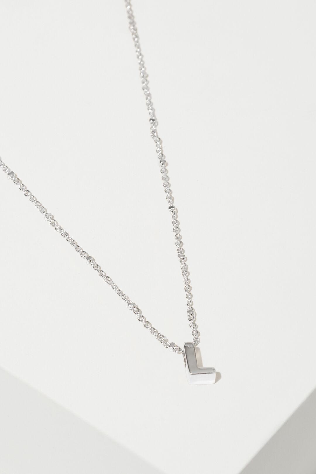 Silver Initial Charm  L  hi-res
