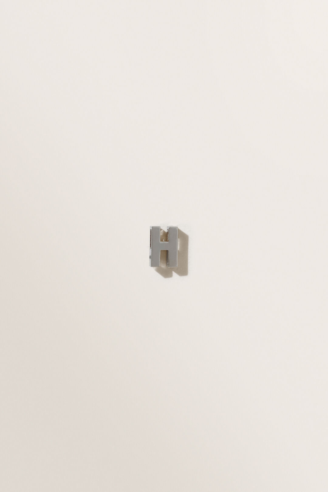Silver Initial Charm  H  hi-res