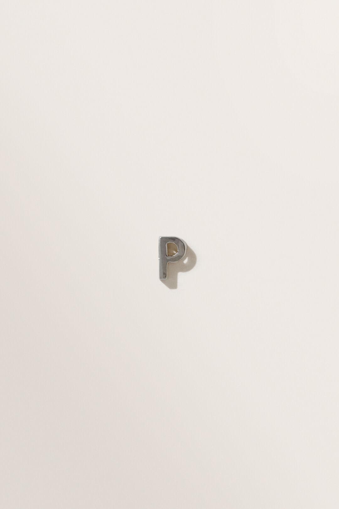 Silver Initial Charm  P  hi-res