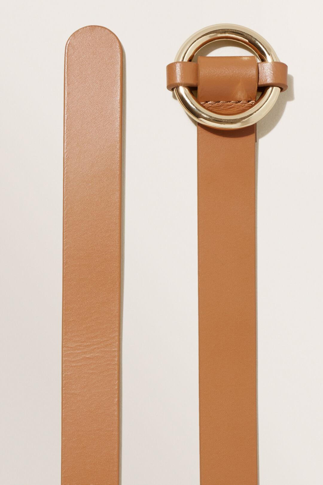 Ring Leather Belt  Tan  hi-res