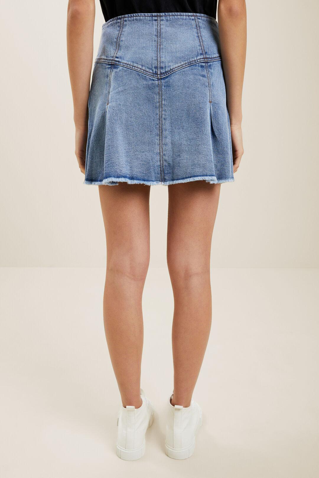 Frill Denim Skirt  Bright Blue Wash  hi-res