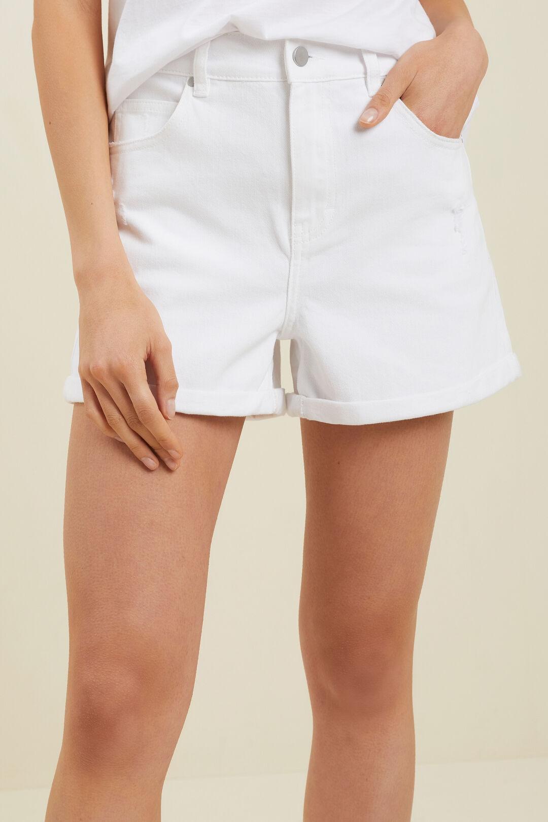Denim Shorts  White Wash  hi-res
