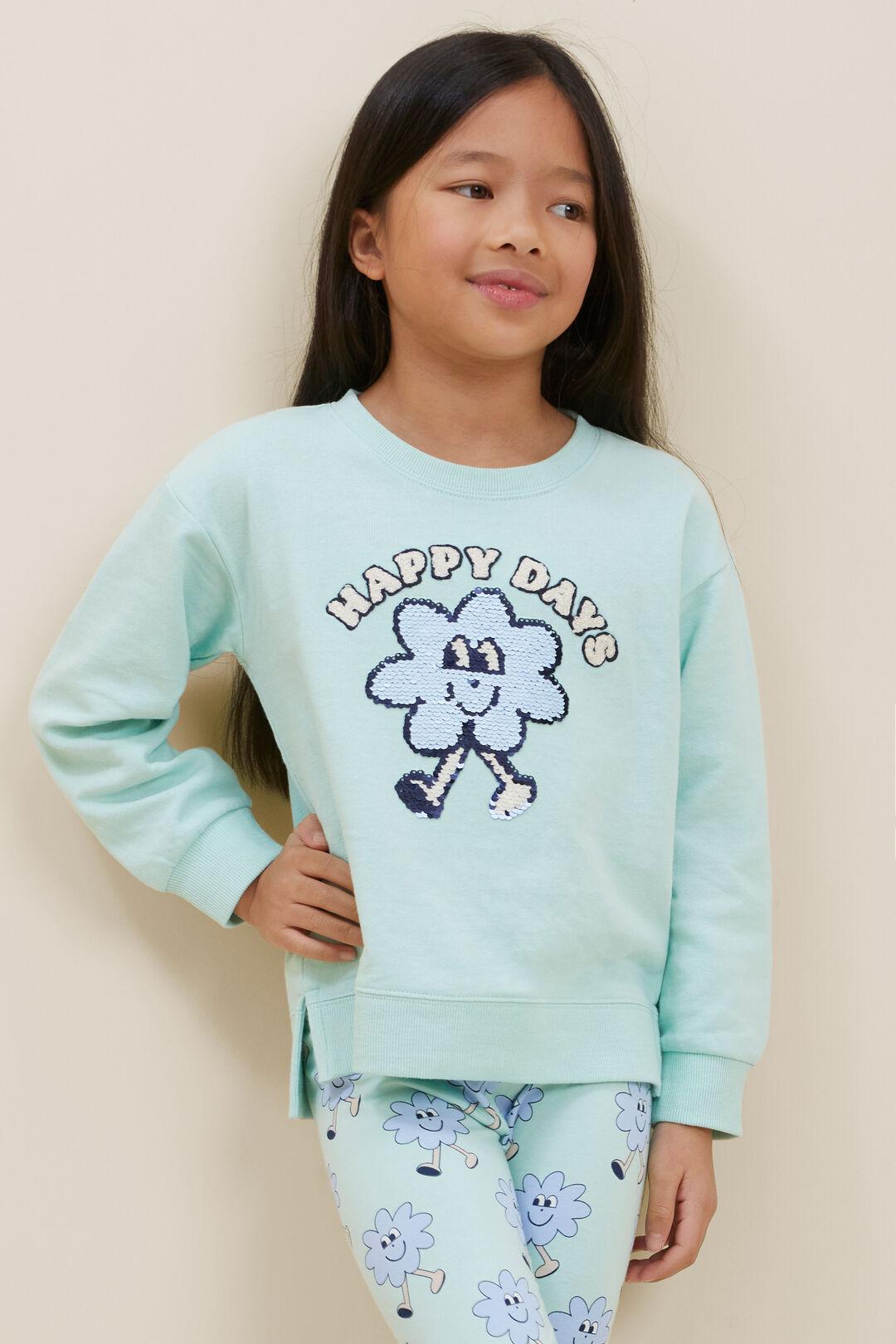 Happy Days Sweater  Aqua Mint  hi-res