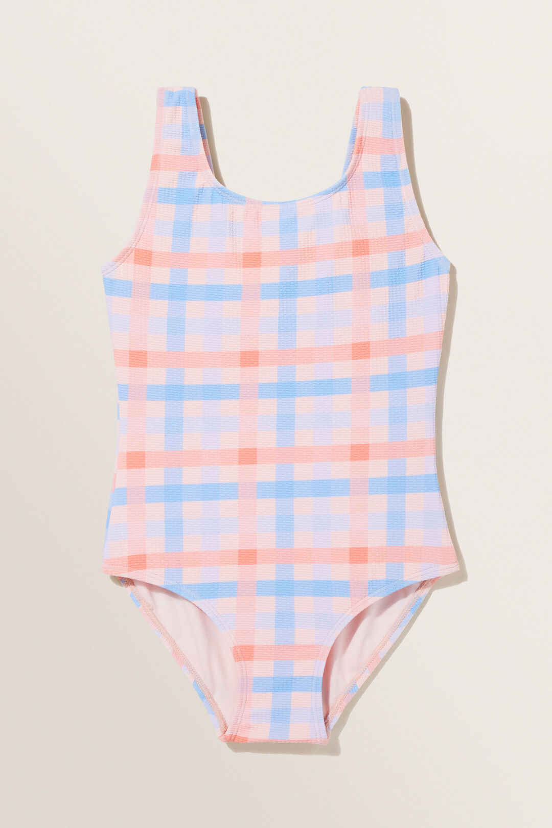 Seersucker Gingham Swimsuit  Multi Gingham  hi-res