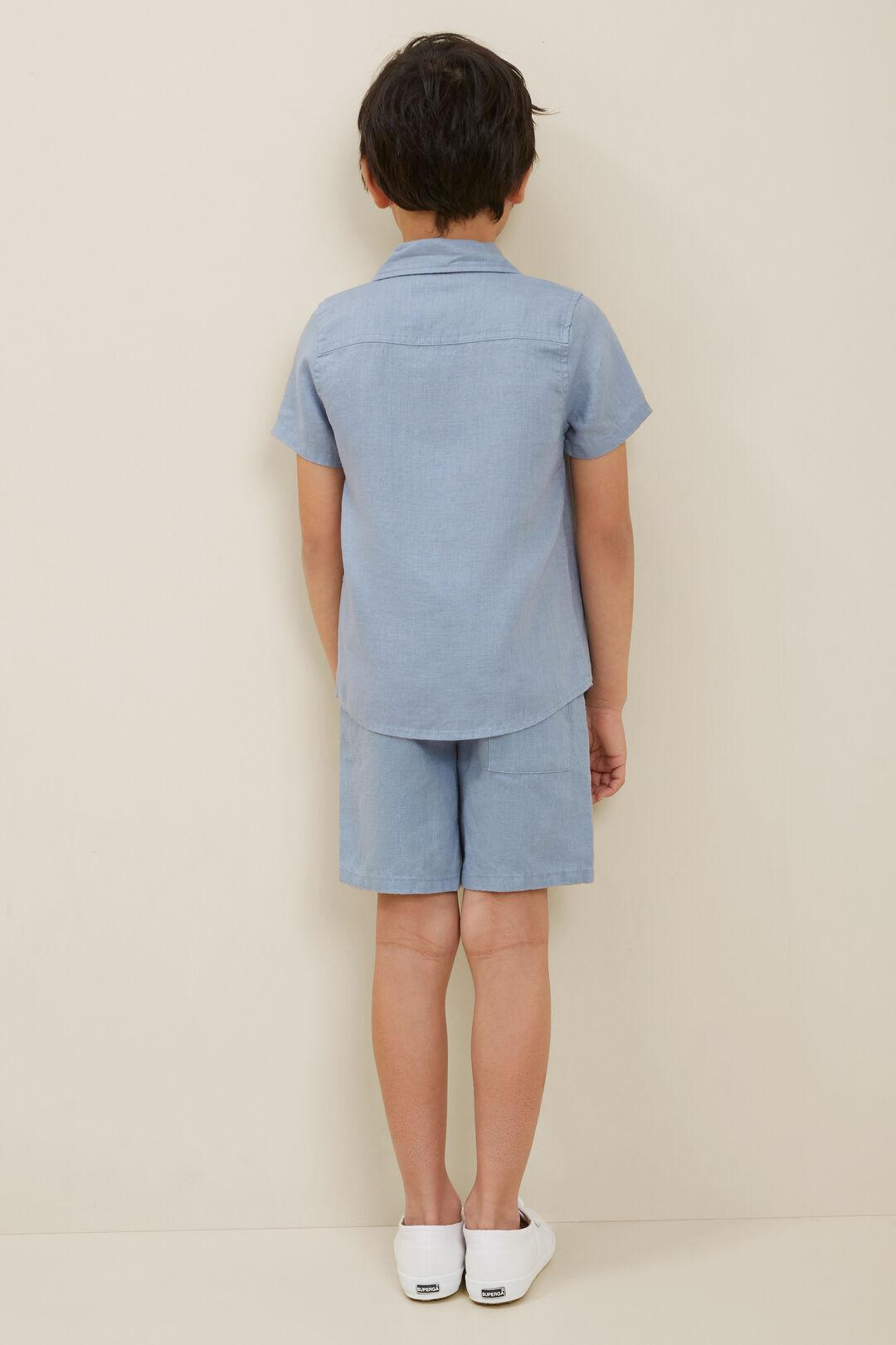 Linen Shirt  Steel Blue  hi-res
