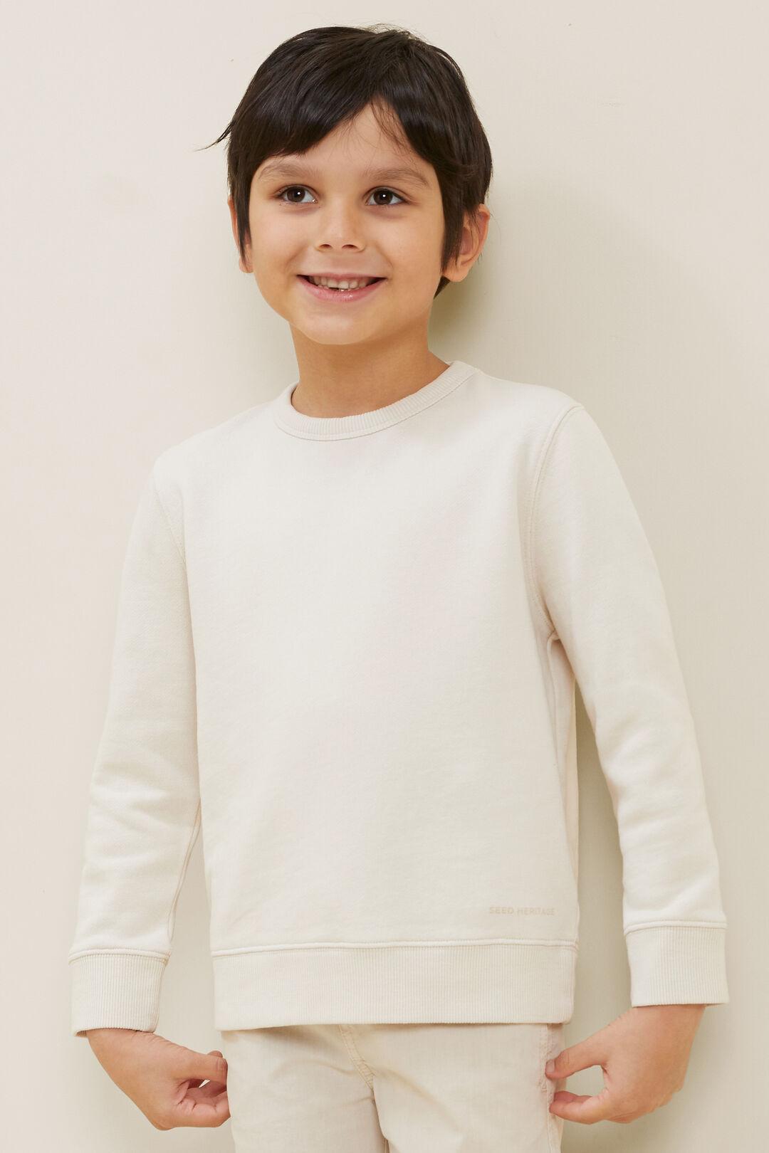 Cotton Sweater  Ecru  hi-res