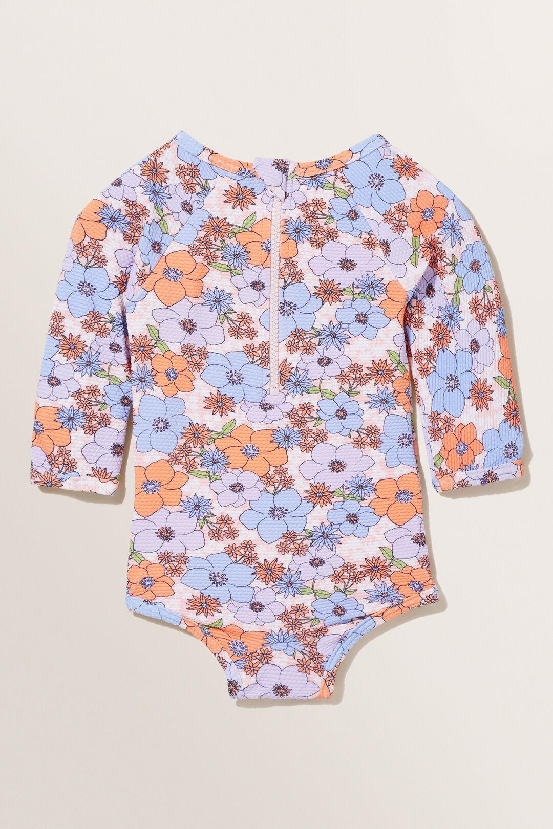 Floral Rashsuit  Violet  hi-res