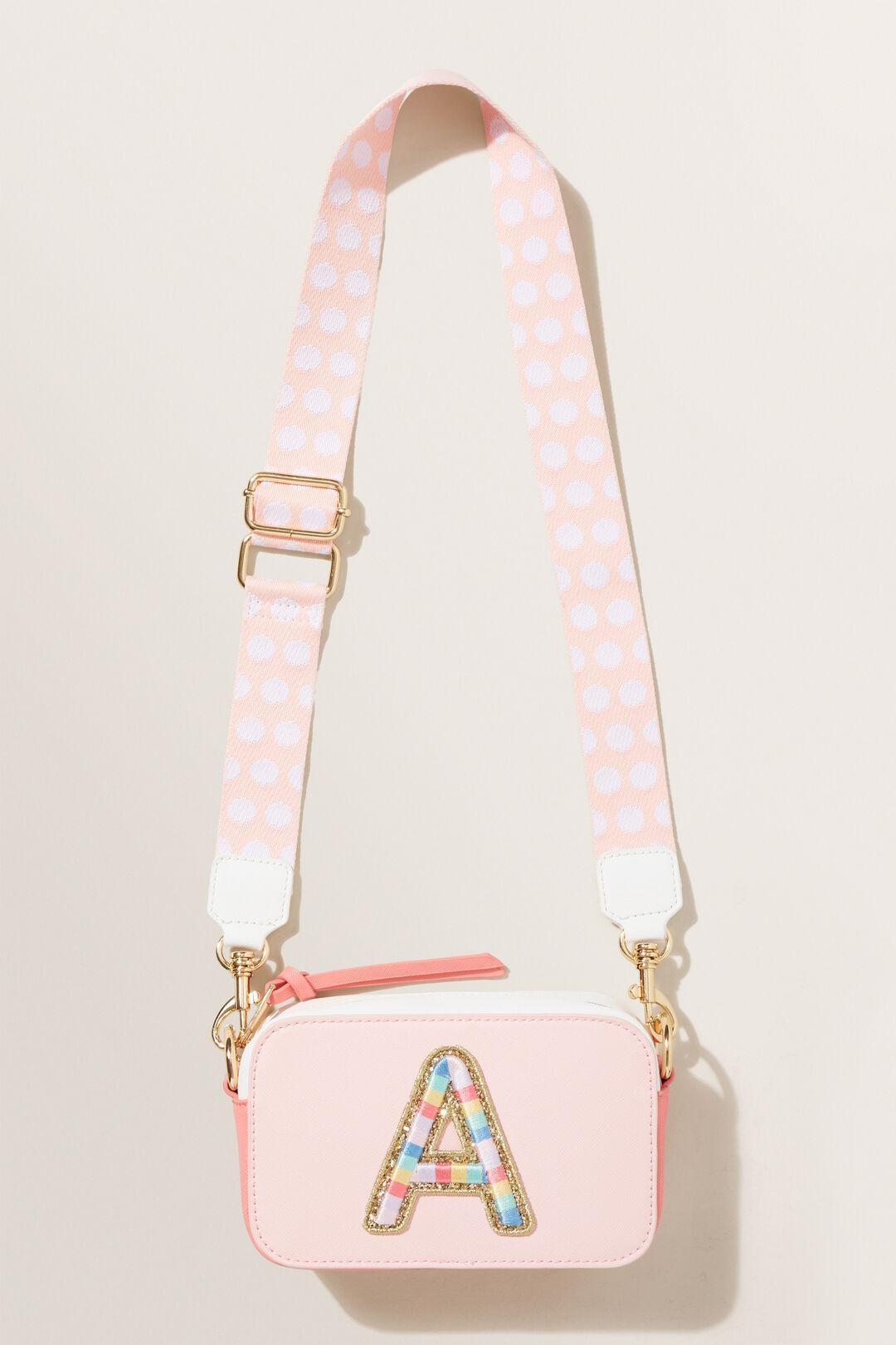 Rainbow Initial Bag  A  hi-res