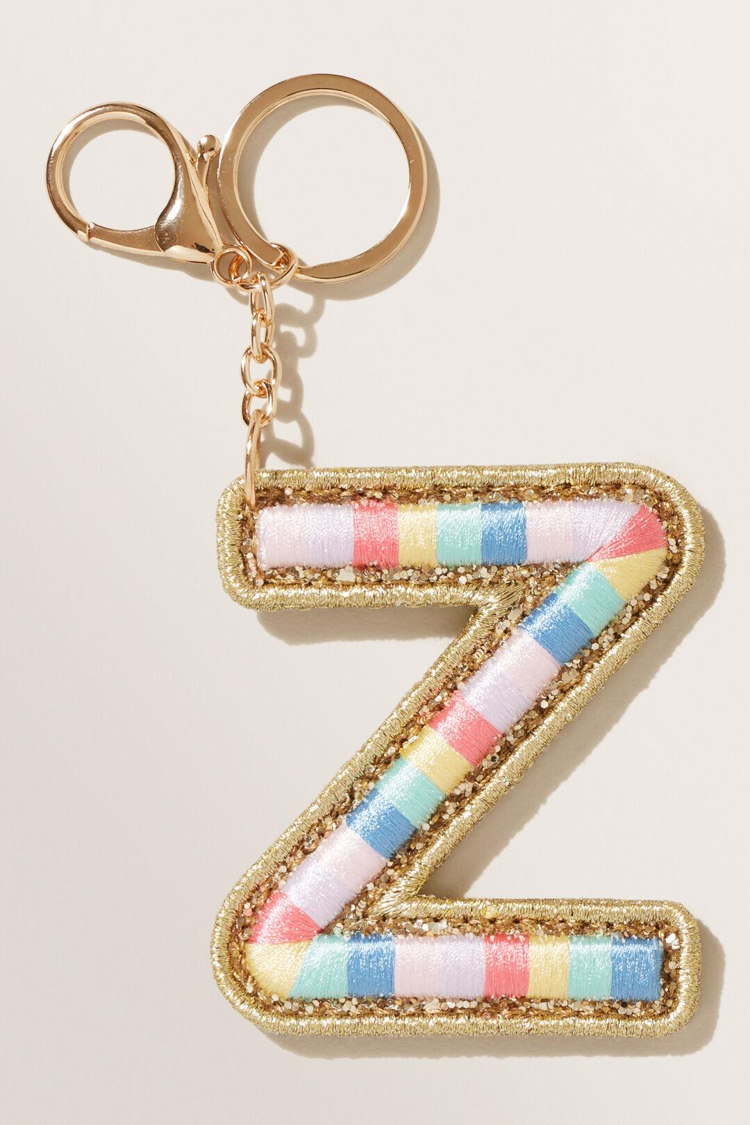 Rainbow Initial Keyring  Z  hi-res