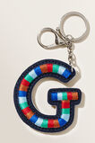 Embroidered Initial Keyring  G  hi-res