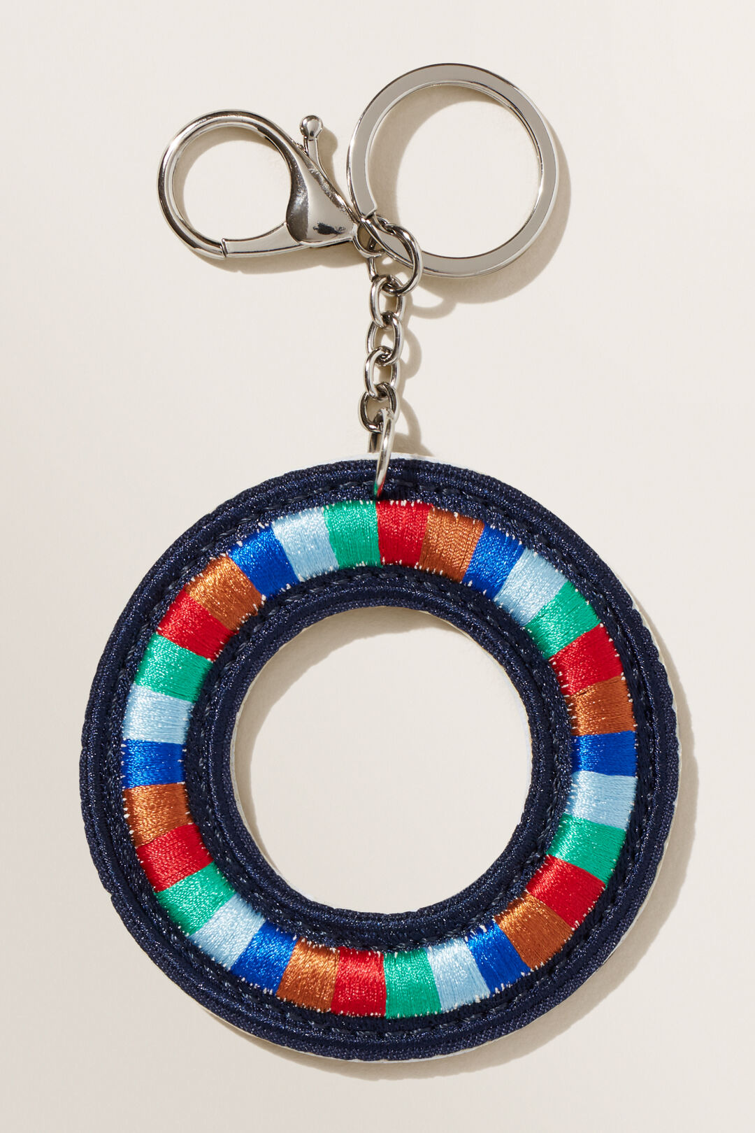 Embroidered Initial Keyring  O  hi-res