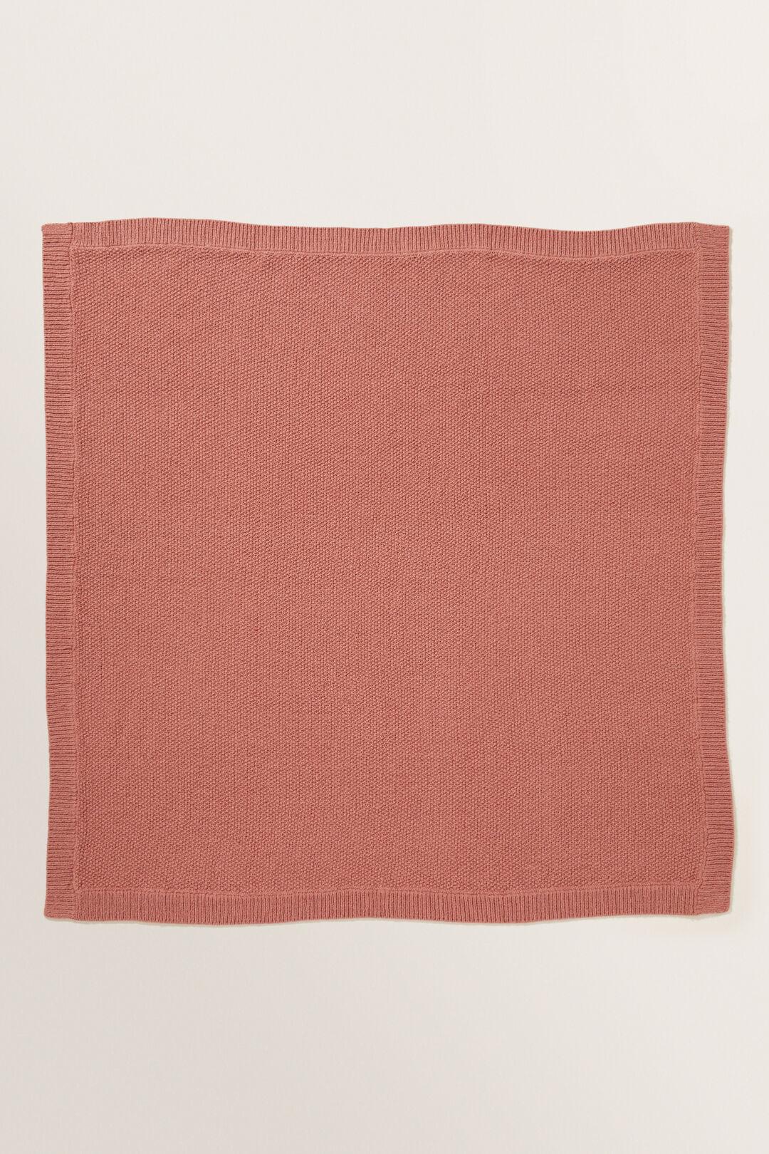 Textured Knit Blanket  Faded Rose  hi-res