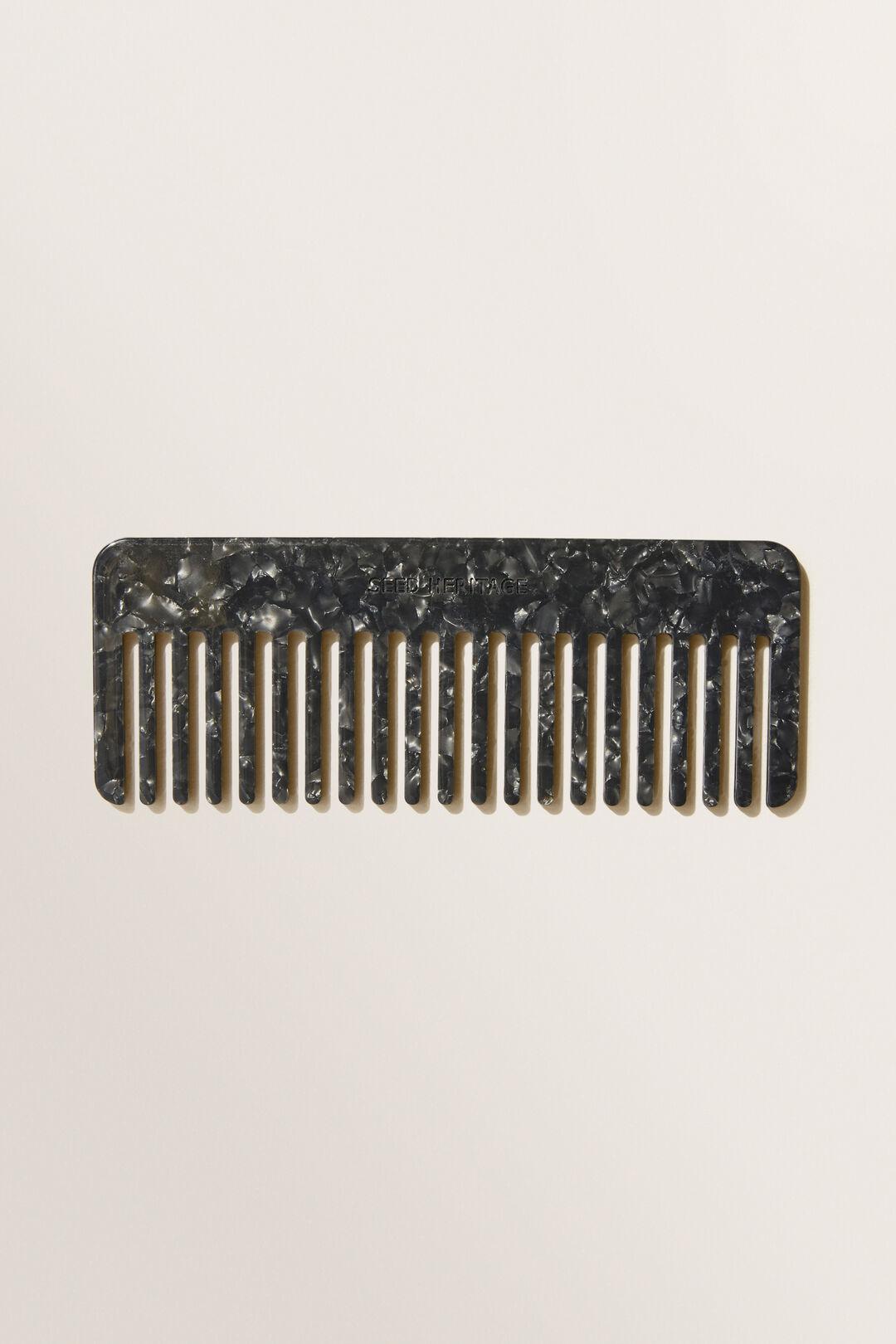 Resin Tort Comb  Black Tort  hi-res