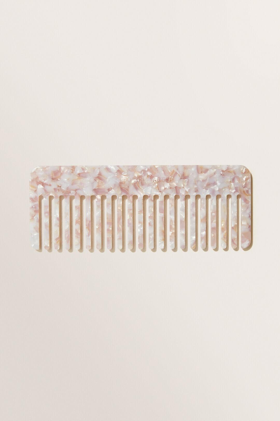 Resin Tort Comb  Blush  hi-res