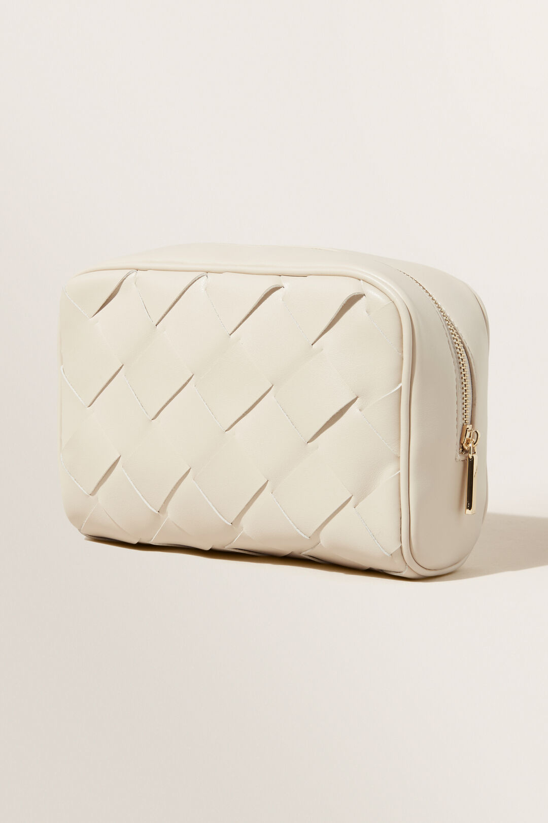 Large Woven Cosmetic Bag  Stone  hi-res