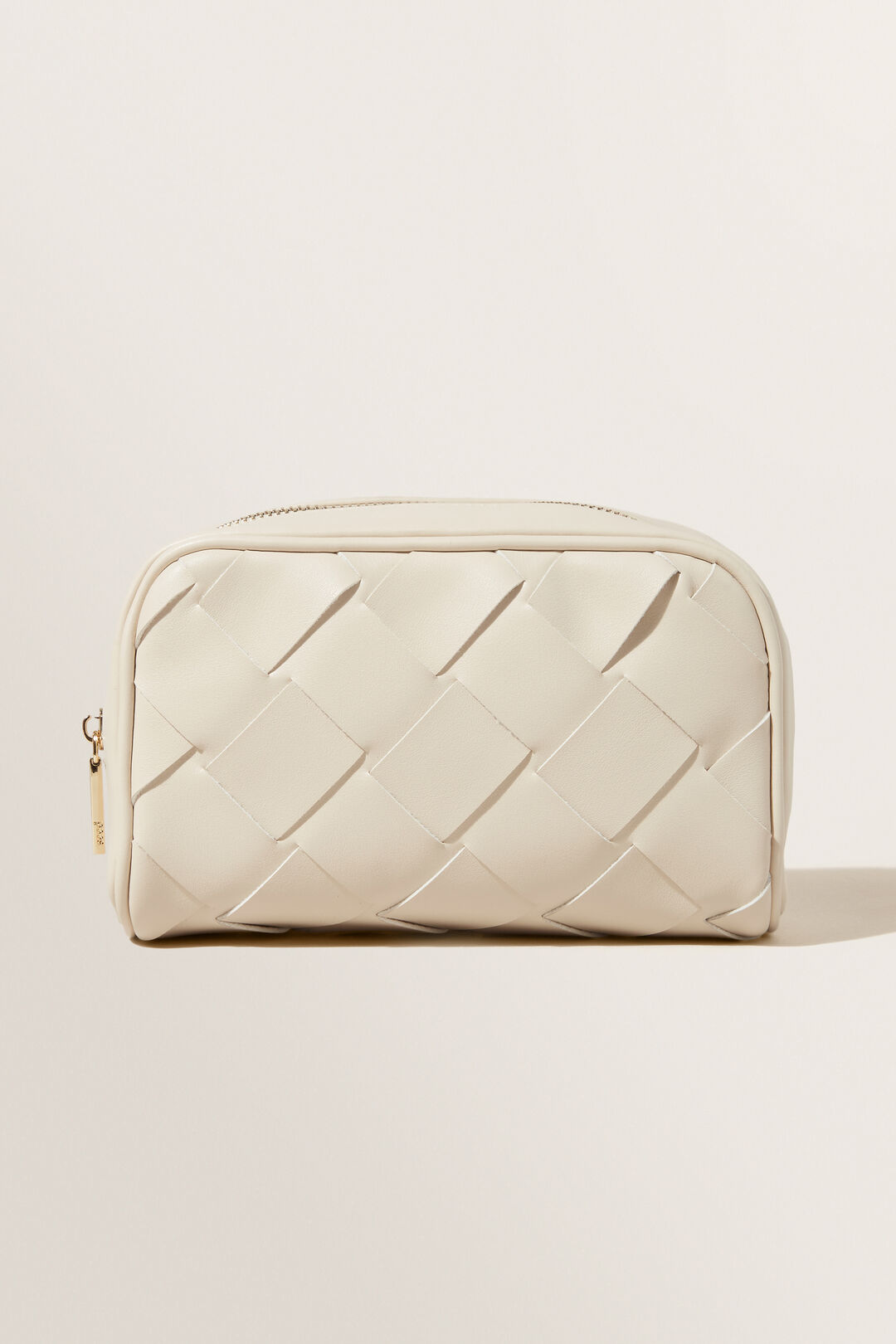 Small Woven Cosmetic Bag  Stone  hi-res