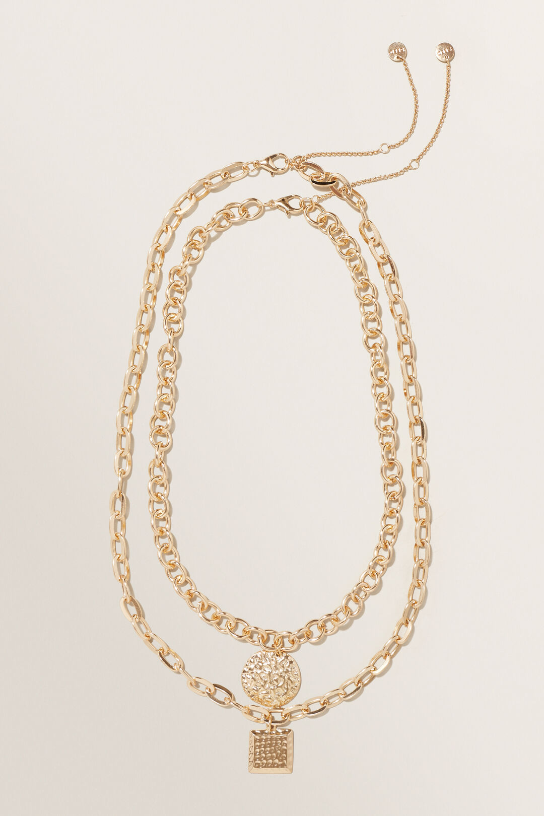Chunky Pendant Necklace  Gold  hi-res