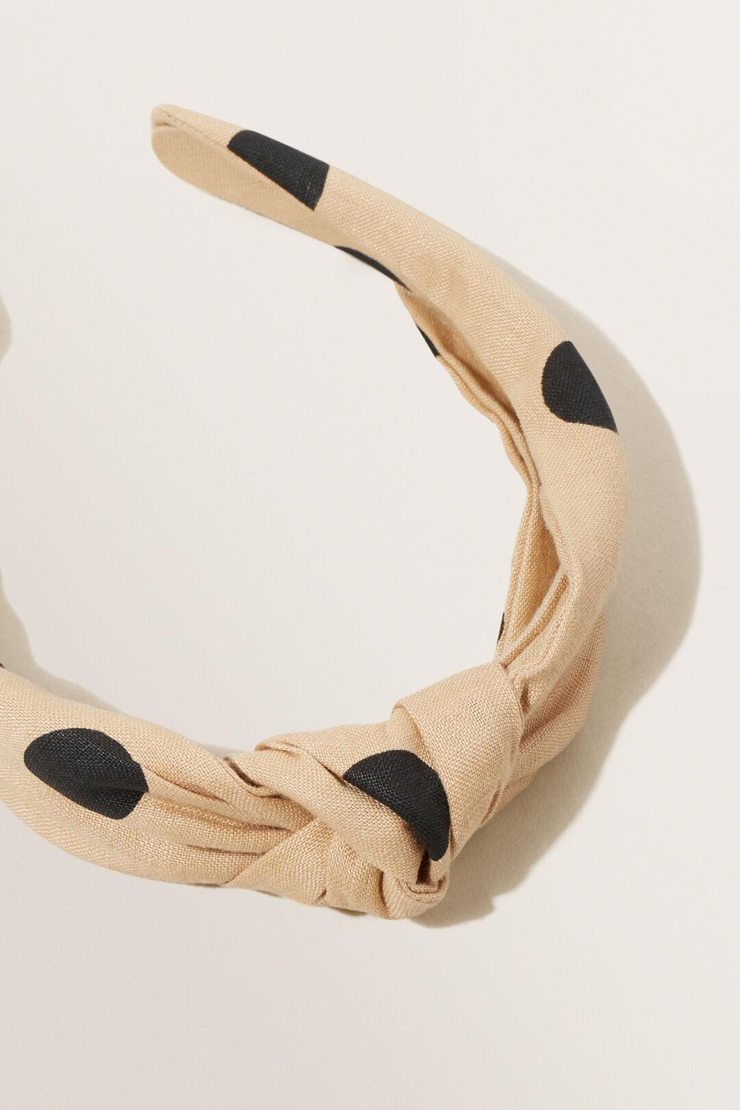 Spot Knot Headband  Neutral Sand Spot  hi-res