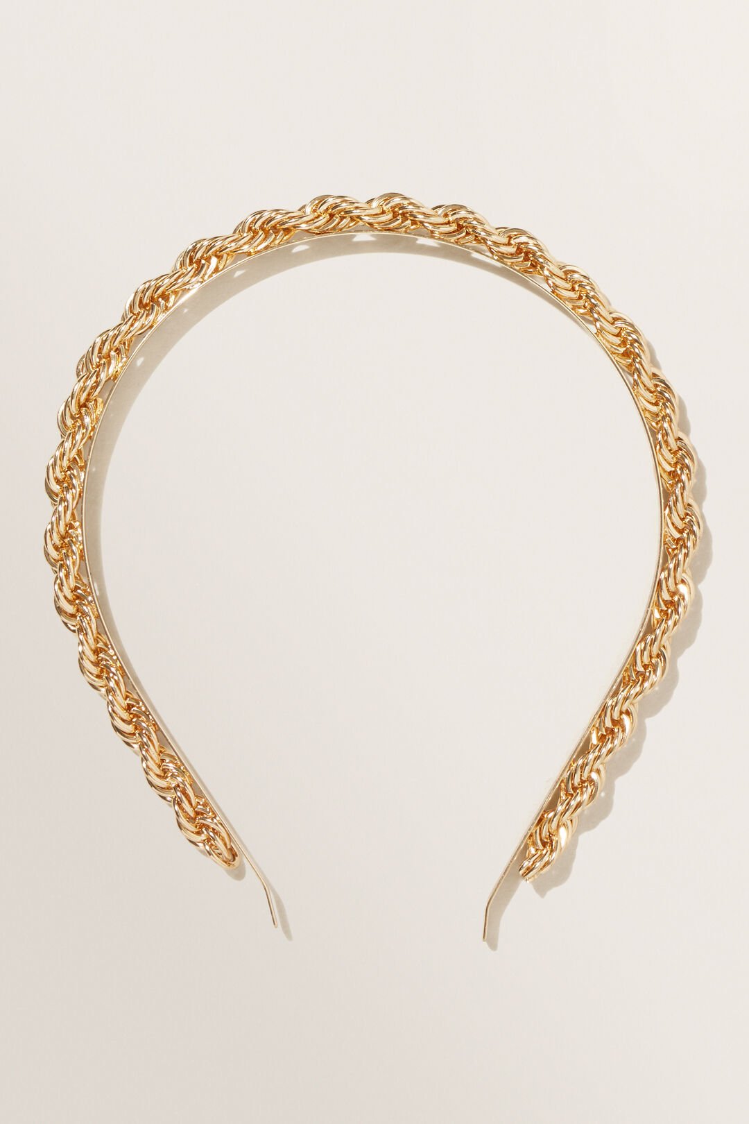 Rope Chain Headband  Gold  hi-res