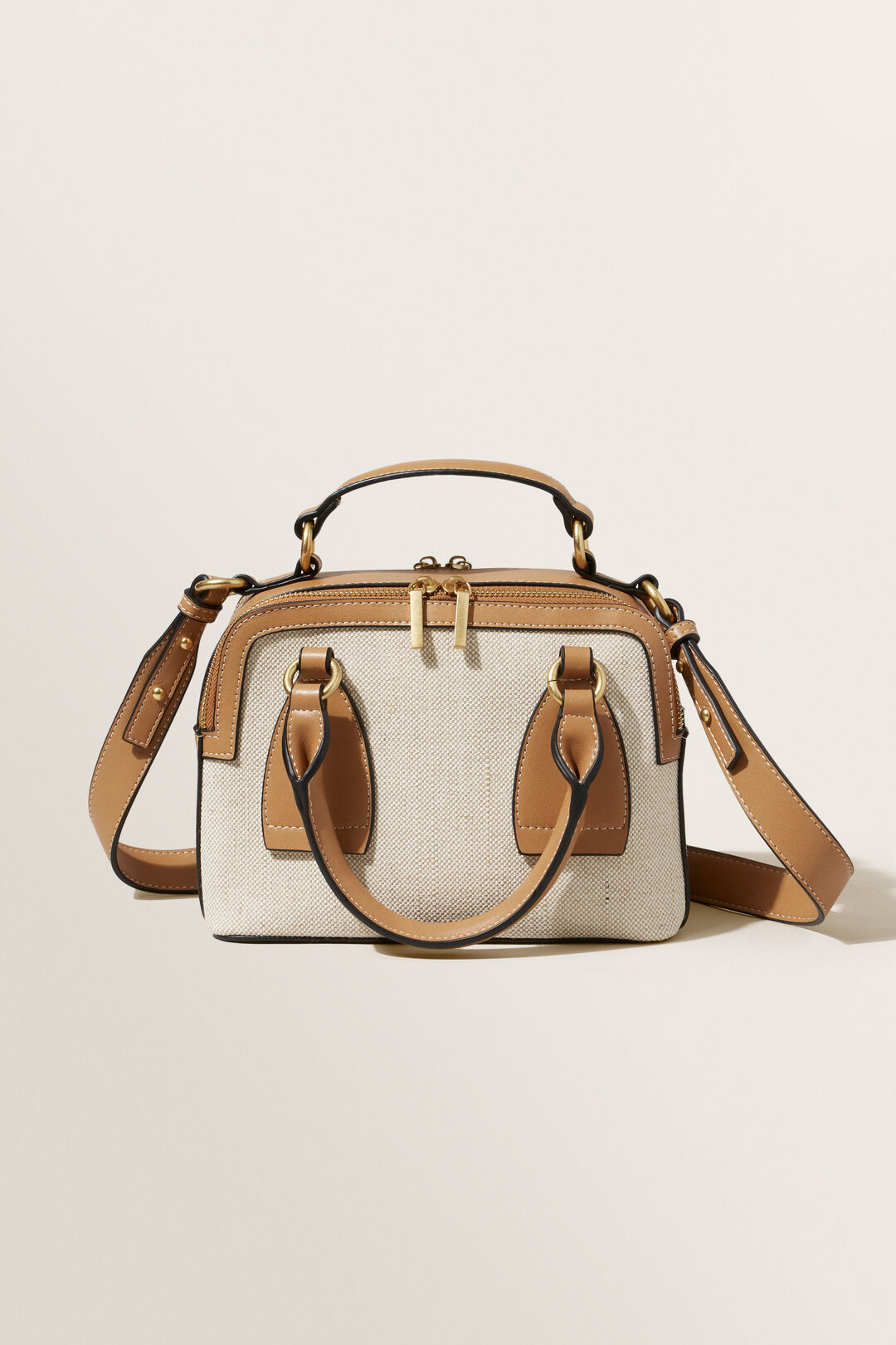 Textured Fabric Sling Bag  Honey Tan Natural  hi-res