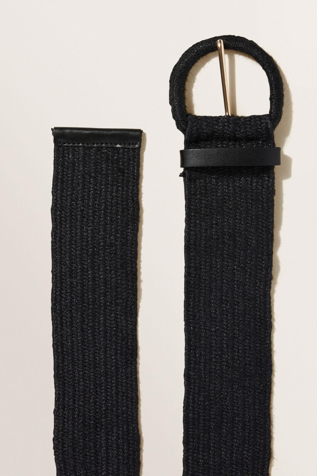 Raffia Belt  Black  hi-res